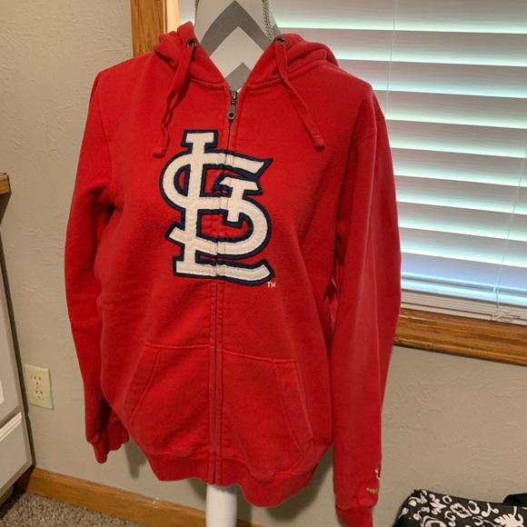 separation shoes 14472 69a02 Women's St Louis Cardinals zip front hoodie XL